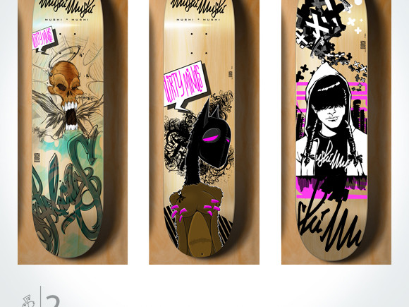 mushi mushi skateboards_board